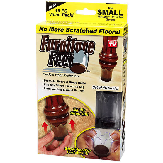 Furniture Feet - Clear - Small - 16's