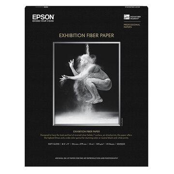 Epson Exhibition Fibre Paper - 8.5 x 11 inch - 25 sheets