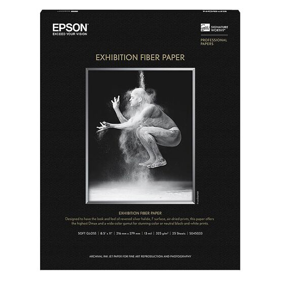 Epson Exhibition Fibre Paper - 8.5 x 11 inch - 25 sheets