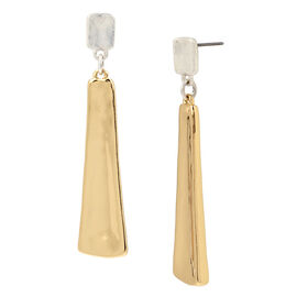 Robert Lee Morris Large Stick Earrings - Two Tone