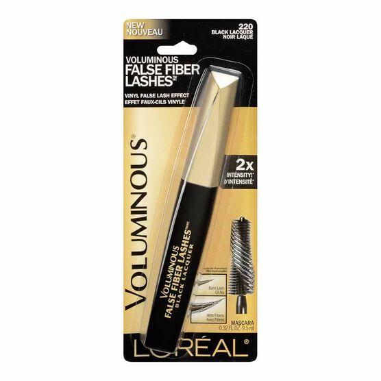 L'Oreal Voluminous False Fiber Lashes Mascara - Black Lacquer