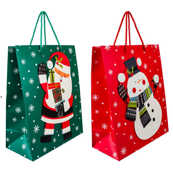 Paper Trendz Large Gift Bag - 4 pieces - Assorted