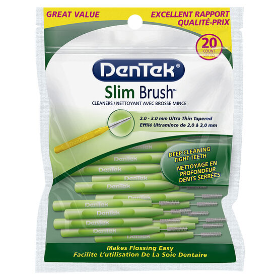 Dentek Slim Brush Cleaners - 20's