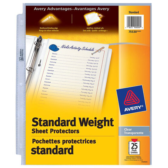 Avery Standard Sheet  Protectors - 25's