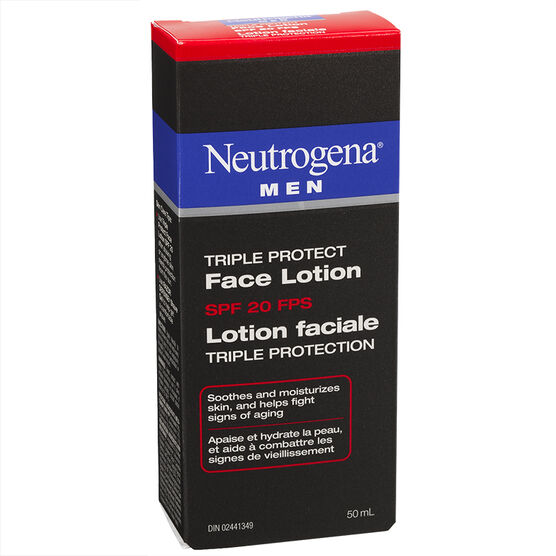 Neutrogena Men Triple Protect Face Lotion - SPF 20 - 50ml