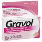 Gravol Tablets 50mg - 30's