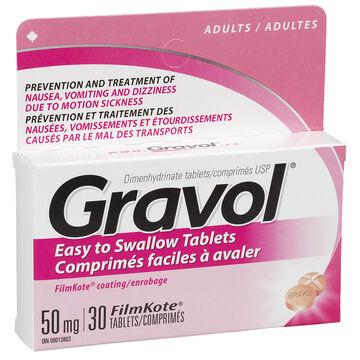 Gravol Tablets 50mg - 30's