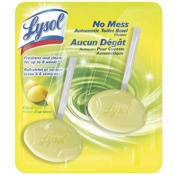 Lysol No Mess Clip on Toilet Bowl Cleaner - Citrus - 2 pack
