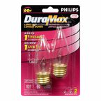 Philips 60W DuraMax Chandelier Light Bulb - 129304