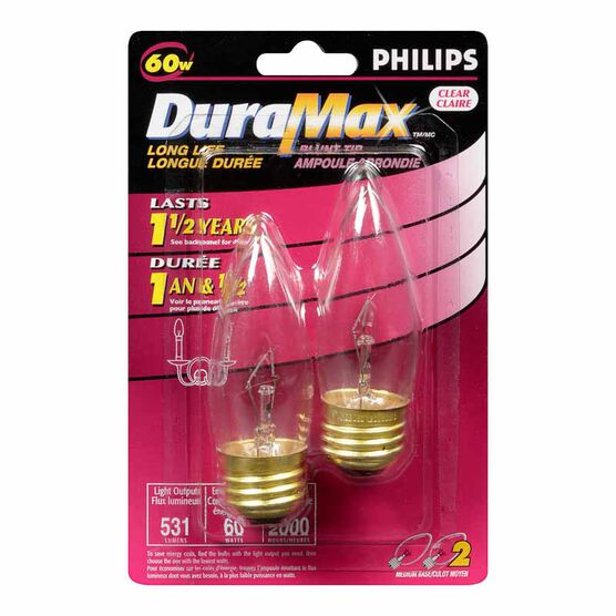 Philips 60W DuraMax Chandelier Light Bulb - 129304