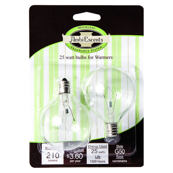 Ambiescents Replace Bulbs - 25 W - 2 pack