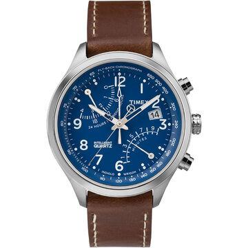 Timex IQ Fly-Back Chronograph - Brown/Blue - TW2P78800ZA