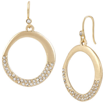 Kenneth Cole Gypsy Earrings - Crystal/Gold Plated
