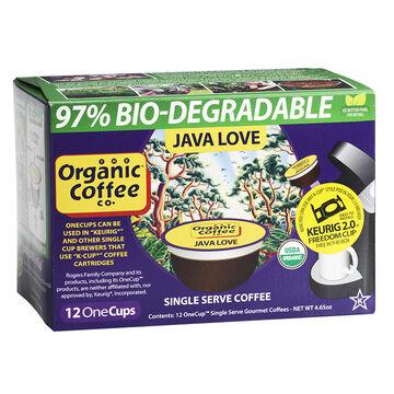 Organic Coffee Co. OneCup Coffee Pods - Java Love - 12's