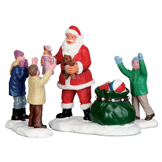 Lemax It's Santa! - Set of 3 Figurines