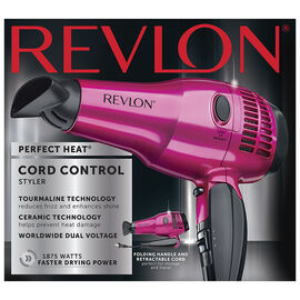 Revlon Perfect Heat Ionic Ceramic Retractable Cord Hair Dryer - RVDR5012PNKF