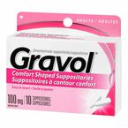 Gravol Adult Rectal Suppositories 100mg - 10's