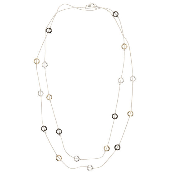 Nine West 42-inch Long Necklace - Tri-Tone