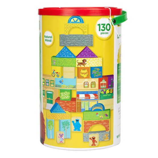 Sesame Street Building Block Set - 130 Pieces