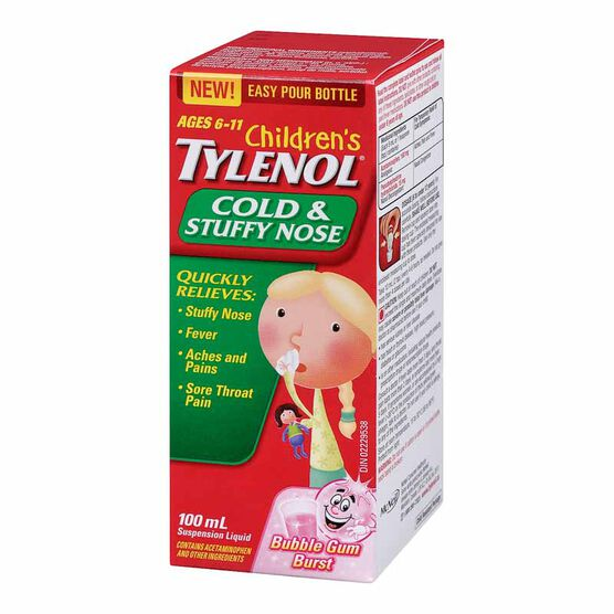 Tylenol* Child's Decongestant - Bubble Gum Burst - 100ml