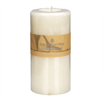 Enlighten Pillar Candle - Vanilla Flower - 3 x 6inch