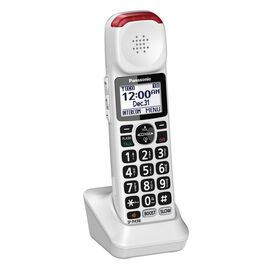 Panasonic Amplified Phone Expansion Handset - White - KXTGMA44W