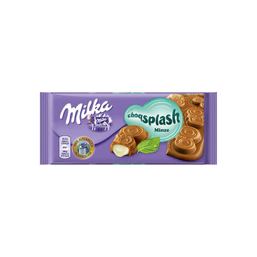 Milka Splash Mint Chocolate Bar - 90g