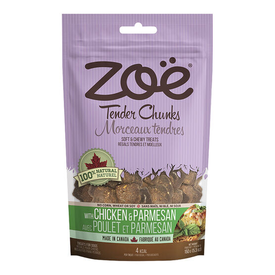 Zoe Tender Chunks Dog Treats - Bacon - 150g