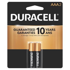 Duracell CopperTop AAA Alkaline Batteries - 2 pack