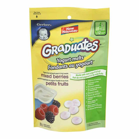 Gerber Graduates Yogurt Melts - Mixed Berries - 28g