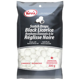 Kerr's Scotch Drops Black Licorice - 200g