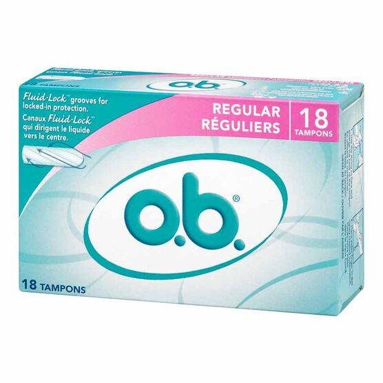 O.B. Regular Tampons - 18's