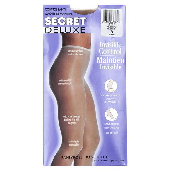 Secret Deluxe Reveal In-Control Pantyhose - B - Neutral