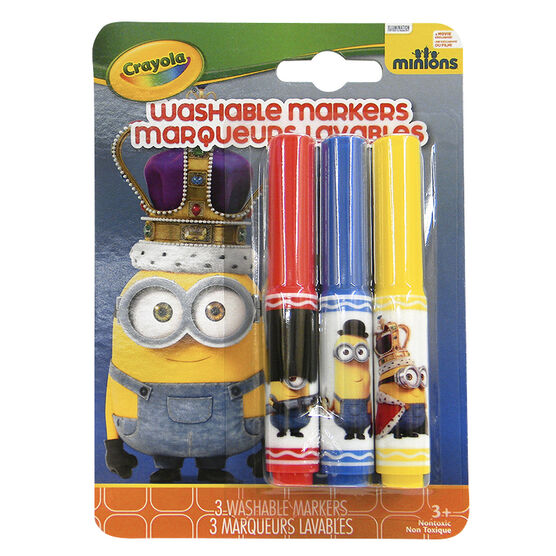 Crayola Minions Washable Markers - British Invasion - 3 pack