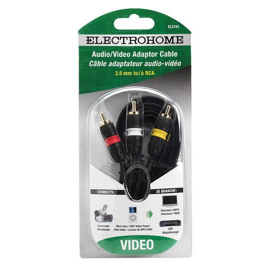 Electrohome 6-ft. RCA Audio/Video to AV Mini Plug - 3.5mm - ELS191