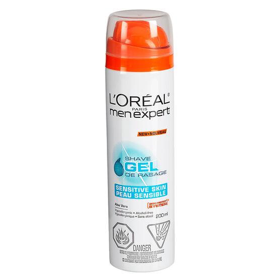 L'Oreal Men Expert Shave Gel - Sensitive - 200mL