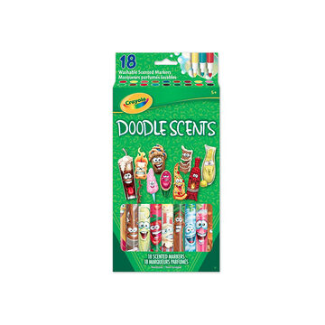 Crayola Doodle Scents Markers - 18 pack