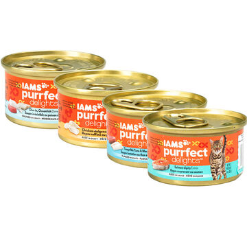 Iams Purrfect Delight Cat Food - 85g