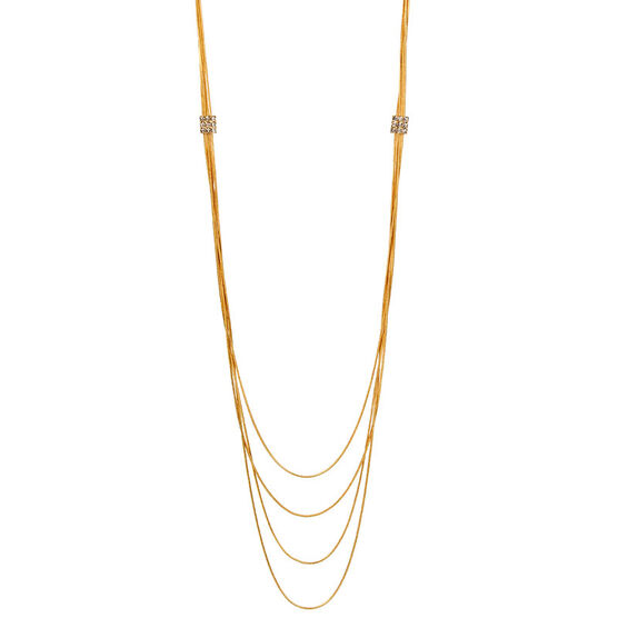 Haskell Multi Row Necklace - Gold