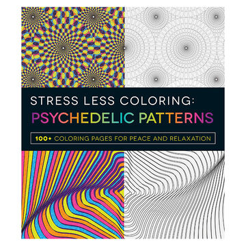 Stress Less Colouring: Psychedelic Patterns
