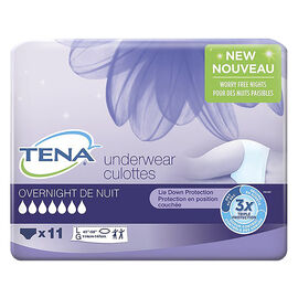 Tena Overnight Underwear - Large - 11's