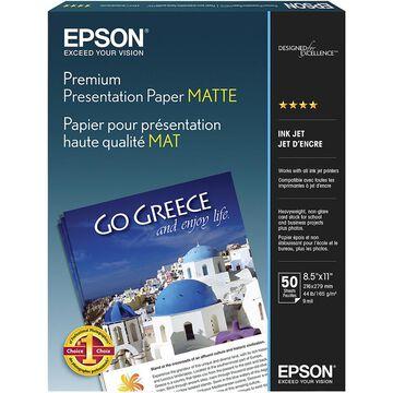 Epson Premium Presentation Paper Matte - 8.5 x 11 - 50 Sheets - S041257