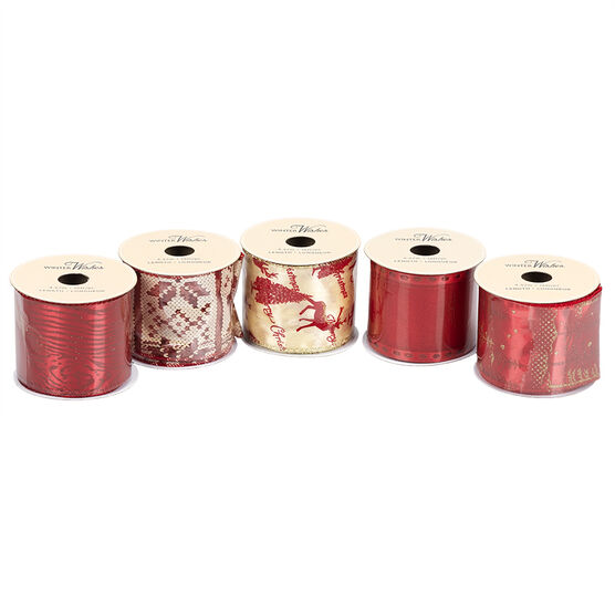 Winter Wishes Wire Edge Ribbon - 2.5 in x 5 yd - Assorted