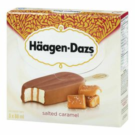 Haagen Dazs Take Home Ice Cream Bars - Salted Caramel - 3 x 88ml