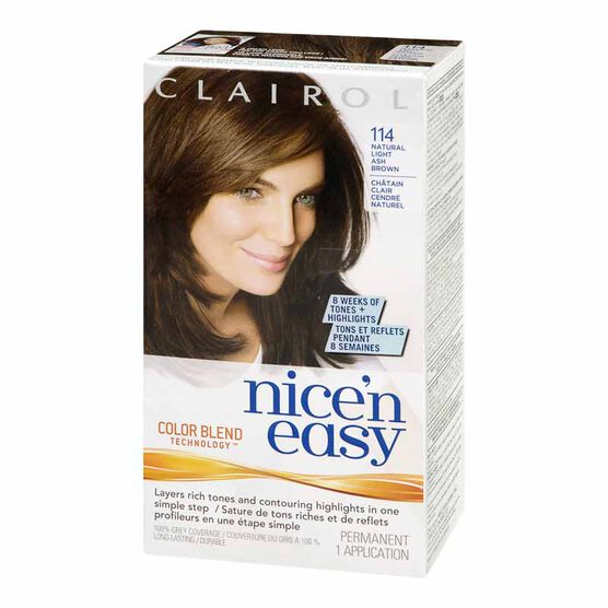 clairol nice n easy 114 natural light ash brown - Clairol Nice And Easy Colors