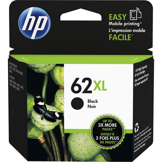 HP 62XL High Yield Original Ink Cartridge - Black - C2P05AN#140