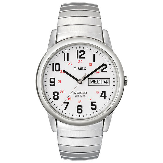 Timex Easy Reader Watch - White/Silver