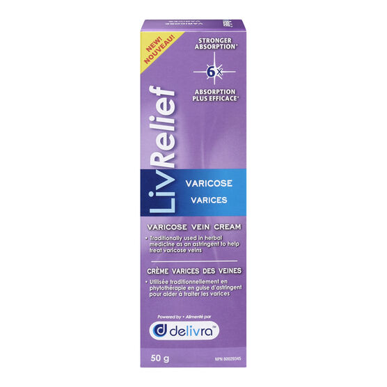 LivRelief Varicose Vein Cream - 50g