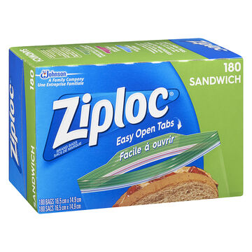 Ziploc Sandwich Bags Value Pack - 180's