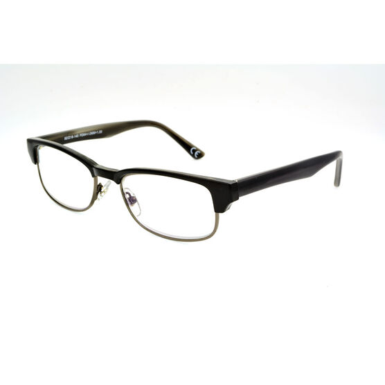 Foster Grant Cartwright Reading Glasses - Black/Chrome - 1.75